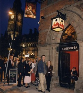 Entrance to the basement of the Square Albert on our first night.