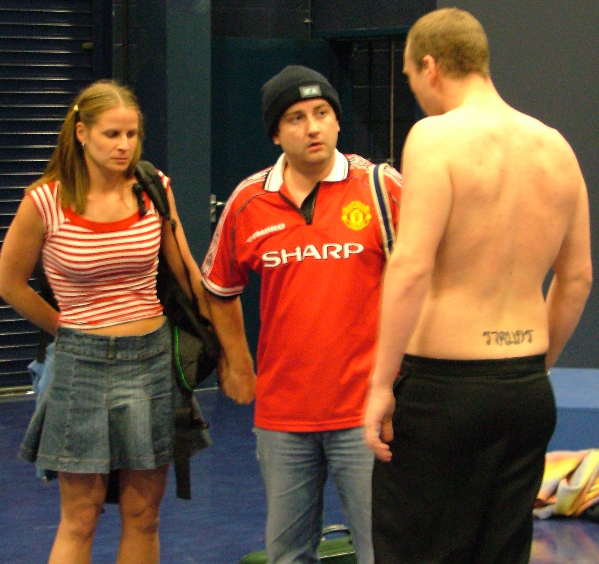 Hilary Jane, Steve Kelly & Tommy Dickinson as Katy, Carl & Stuart.