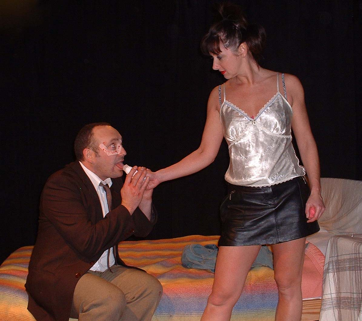 Anthony Bessick as Man and Jo Marriott as Slag.